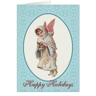 Cartão de Natal do anjo
