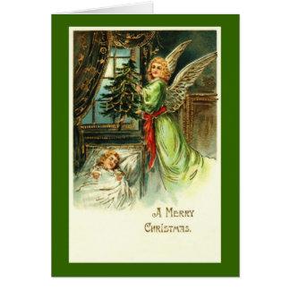 Cartão de Natal do anjo do vintage