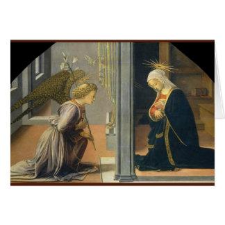 Cartão de Natal do anjo e da Mary
