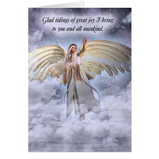 Cartão de Natal do anjo religioso