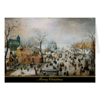 Cartão de Natal do antigo mestre