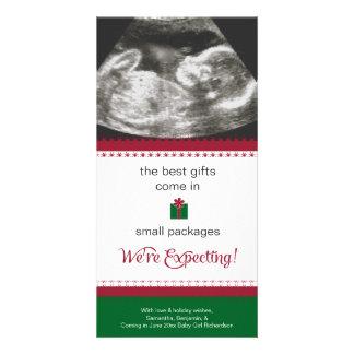 Cartão Cartão de Natal do anúncio da gravidez