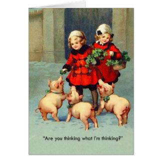 Cartão de Natal do bacon