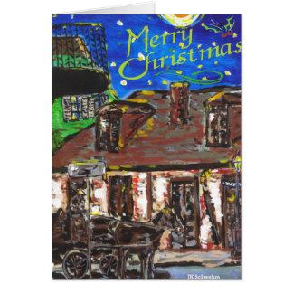 Cartão de Natal do bairro francês