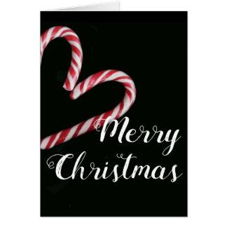 Cartão de Natal do bastão de doces