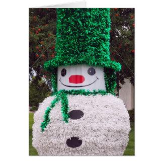 Cartão de Natal do boneco de neve