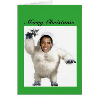 Cartão de Natal do boneco de neve de Obama-nable