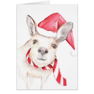 Cartão de Natal do canguru