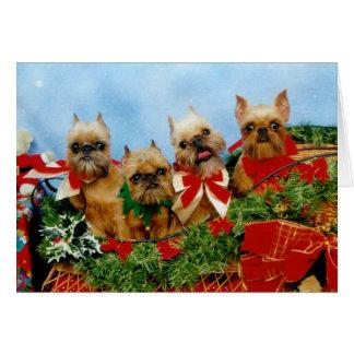 Cartão de Natal do cão de Brussells Griffon
