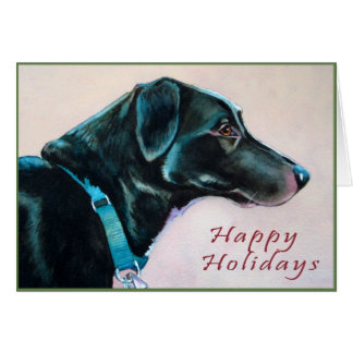 Cartão de Natal do cão preto