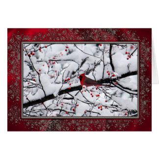 Cartão de Natal do cardeal 6154
