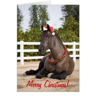 Cartão de Natal do cavalo