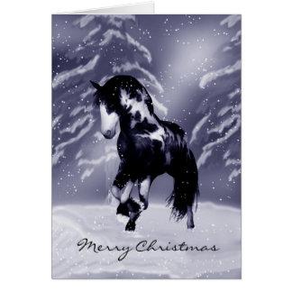 Cartão de Natal do cavalo - pintura de Digitas -