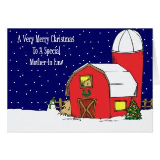 Cartão de Natal do celeiro da sogra