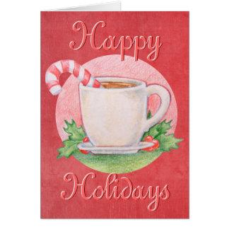 Cartão de Natal do chá do bastão de doces