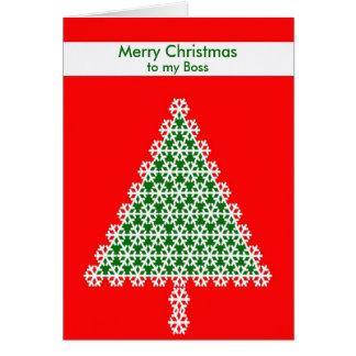 Cartão de Natal do chefe -- Árvore de Natal no