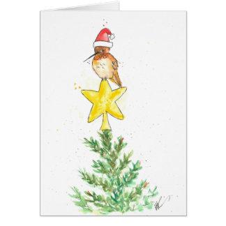 Cartão de Natal do colibri