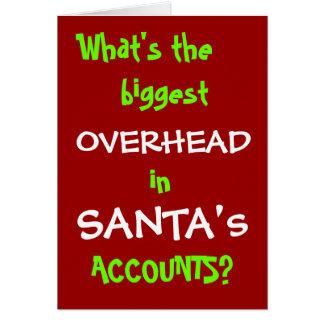 Cartão de Natal do contador - piada - Personalisab
