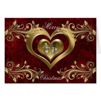 Cartão de Natal do coração