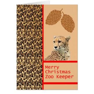 Cartão de Natal do depositário de jardim zoológico