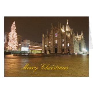 Cartão de Natal do domo de Milão