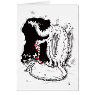 Cartão de Natal do dragão