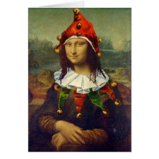 Cartão de Natal do duende de Mona Lisa