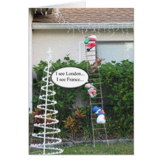 Cartão de Natal do duende do prejuízo