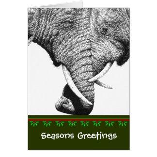 Cartão de Natal do elefante africano