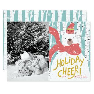 Cartão de Natal do elogio do feriado do urso polar
