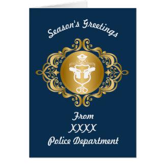 Cartão de Natal do emblema do ícone da polícia