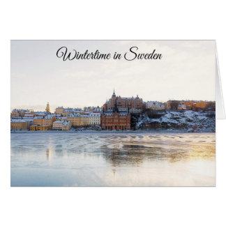 Cartão de Natal do feriado da suecia de Éstocolmo