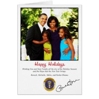 Cartão de Natal do feriado de Barack Obama