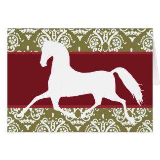 Cartão de Natal do feriado do cavalo