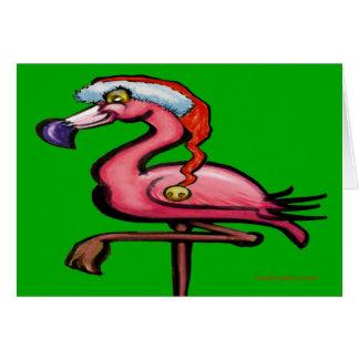 Cartão de Natal do flamingo
