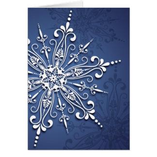Cartão de Natal do floco de neve do feriado