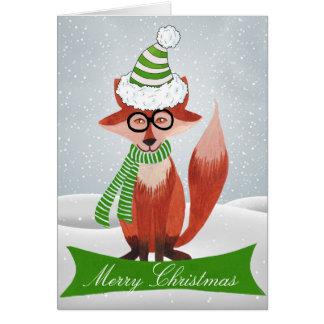 Cartão de Natal do Fox