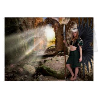 """Cartão de Natal do """"Gatekeeper"""" do anjo"""