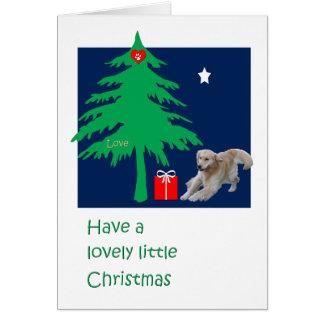 Cartão de Natal do golden retriever