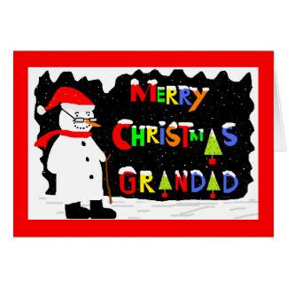 Cartão de Natal do Grandad