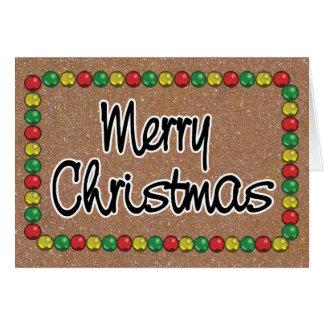 Cartão de Natal do grânulo do brilho do ouro
