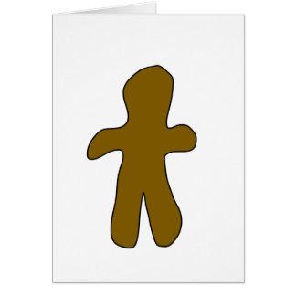 Cartão de Natal do homem de pão-de-espécie