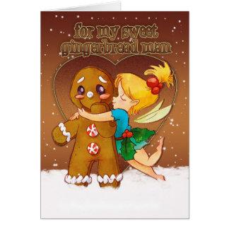 Cartão de Natal do homem e da fada de