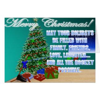Cartão de Natal do hóquei
