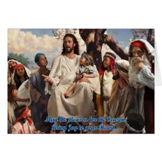 cartão de Natal do Jesus Cristo