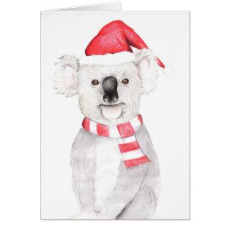 Cartão de Natal do Koala