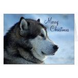 Cartão de Natal do lobo - Feliz Natal