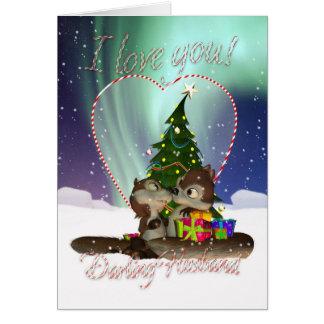 Cartão de Natal do marido eu te amo com amor de