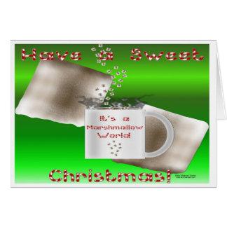 Cartão de Natal do Marshmallow