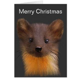 Cartão de Natal do Marten de pinho
